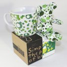 SYNC-GK08 [Bubble Green] Stuffed Bear Mug (3.3 inch height)