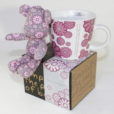 SYNC-GK12 [Flower Pink] Stuffed Bear Mug (3.3 inch height)