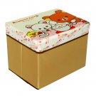 SB-A6-REC[Rilakkuma Cafe] Rectangle Foldable Storage Ottoman / Storage Boxes / Storage Seat