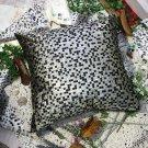 BETTINO-FJ-011 [Black Silver Mosaic] Decorative Pillow Cushion/Floor Cushion(23.6 by 23.6 inches)