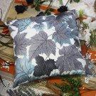 BETTINO-FJ-016 [Blue Maple Leaf] Decorative Pillow Cushion / Floor Cushion (23.6 by 23.6 inches)