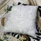 BETTINO-FJ-019 [Antique Blue Palm] Decorative Pillow Cushion / Floor Cushion (23.6 by 23.6 inches)