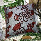BETTINO-FJ-022 [Darkred Plum Blossom] Decorative Pillow Cushion (23.6 by 23.6 inches)