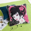 ONITIVA-DP004 [Oriental Love] Cotton Decorative Pillow Cushion  (19.7 by 19.7 inches)