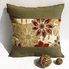 ONITIVA-DP008 [Floral Dance] Linen Patchwork Pillow Cushion Floor Cushion (19.7 by 19.7 inches)