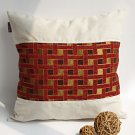 ONITIVA-DP017 [Folk Music] Linen Patchwork Pillow Cushion Floor Cushion (19.7 by 19.7 inches)