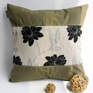 ONITIVA-DP024 [Realm Of Flowers] Linen Patchwork Pillow Cushion (19.7 by 19.7 inches)