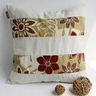 ONITIVA-DP025 [Sunny Mood] Linen Patchwork Pillow Cushion Floor Cushion (19.7 by 19.7 inches)