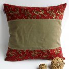 ONITIVA-DP026 [Pretty] Linen Patchwork Pillow Cushion Floor Cushion (19.7 by 19.7 inches)