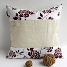 ONITIVA-DP033 [Floral Ocean] Linen Patchwork Pillow Cushion Floor Cushion (19.7 by 19.7 inches)