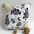 ONITIVA-DP035 [Floral World] Linen Patchwork Pillow Cushion Floor Cushion (19.7 by 19.7 inches)