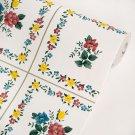 AIH-P1021-Swatch Plaid Flowers - Self-Adhesive Wallpaper Home Decor(Sample)