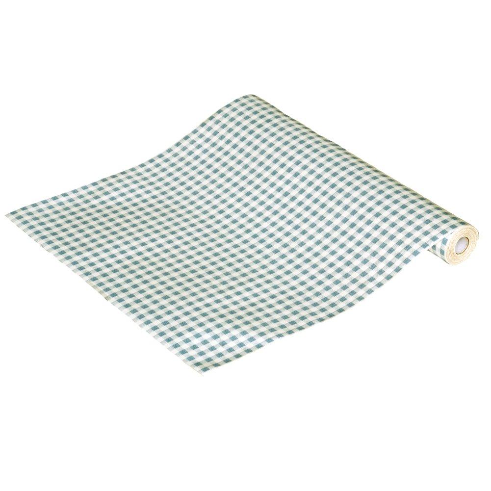 AIH-P1051-Roll Fresh Mint Plaid - Self-Adhesive Wallpaper Home Decor(Roll)