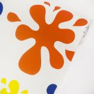 AIH-P1434-Swatch Colorful Snowflakes  - Self-Adhesive Wallpaper Home Decor(Sample)