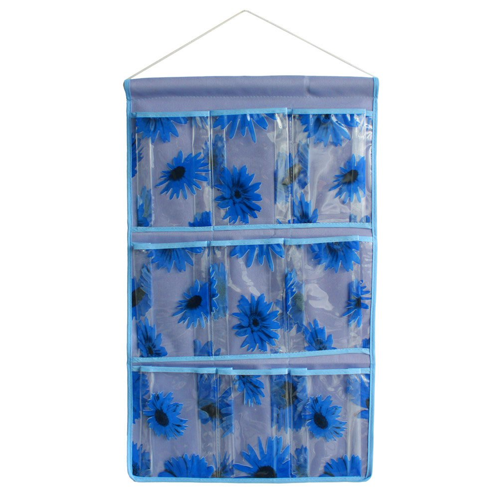 BN-WH045 [Sunflowers] Blue/Wall Hanging/ Wall Organizers / Hanging Baskets (14*23)