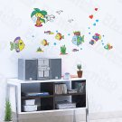 HEMU-HL-1232 Cartoon Fish-1 - Wall Decals Stickers Appliques Home Decor