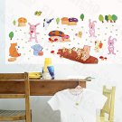 HEMU-HL-1278 Singing Animals - Wall Decals Stickers Appliques Home Decor