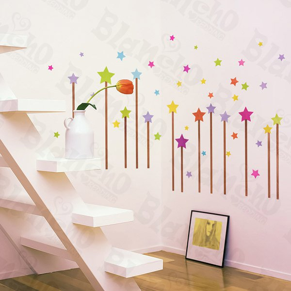 HEMU-HL-1302 Star Sky - Wall Decals Stickers Appliques Home Decor