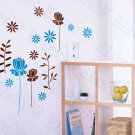 HEMU-HL-1304 Pleasant Flourish - Wall Decals Stickers Appliques Home Decor