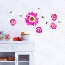 HEMU-HL-1306 Delightful Petals - Wall Decals Stickers Appliques Home Decor