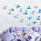 HEMU-HL-1309 Flying Swallow - Wall Decals Stickers Appliques Home Decor