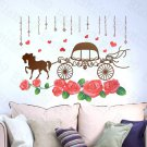 HEMU-HL-2106 Romantic Carriage - Large Wall Decals Stickers Appliques Home Decor