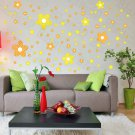 HEMU-HL-2128 Yellow Floral Design - Large Wall Decals Stickers Appliques Home Decor