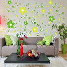 HEMU-HL-2129 Green Floral Design - Large Wall Decals Stickers Appliques Home Decor