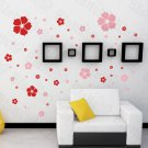 HEMU-HL-2130-1 Red Warm Flower - Large Wall Decals Stickers Appliques Home Decor