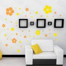 HEMU-HL-2131 Pink Warm Flower - Large Wall Decals Stickers Appliques Home Decor