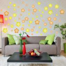 HEMU-HL-2134 Yellow Blossoming Flowers - Large Wall Decals Stickers Appliques Home Decor