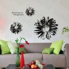 HEMU-HL-2145 Black Dahlien - Large Wall Decals Stickers Appliques Home Decor