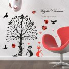HEMU-HL-2183 Love Under The Tree - Large Wall Decals Stickers Appliques Home Decor