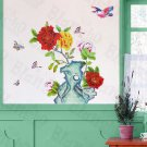 HEMU-HL-5615 Flowers Pot - Large Wall Decals Stickers Appliques Home Decor