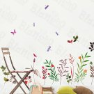 HEMU-HL-5815 Palms & Flowers - Large Wall Decals Stickers Appliques Home Decor