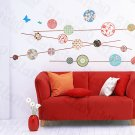 HEMU-HL-5826 Kaleidoscope - Large Wall Decals Stickers Appliques Home Decor