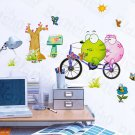 HEMU-HL-5845 Bicycling 2 - Large Wall Decals Stickers Appliques Home Decor