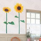 HEMU-HL-5859 Sunflower Couple - Large Wall Decals Stickers Appliques Home Decor