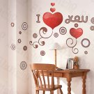 HEMU-HL-5875 I-Love-U - Large Wall Decals Stickers Appliques Home Decor