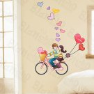 HEMU-HL-5877 Love Biking - Large Wall Decals Stickers Appliques Home Decor