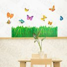 HEMU-HL-5909 Flying Butterflies 4 - Large Wall Decals Stickers Appliques Home Decor