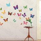 HEMU-HL-6808 Butterflies 2 - X-Large Wall Decals Stickers Appliques Home Decor