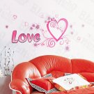HEMU-HL-6815 Love  - X-Large Wall Decals Stickers Appliques Home Decor