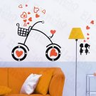 HEMU-HL-6830 Sweet Bicycling - X-Large Wall Decals Stickers Appliques Home Decor