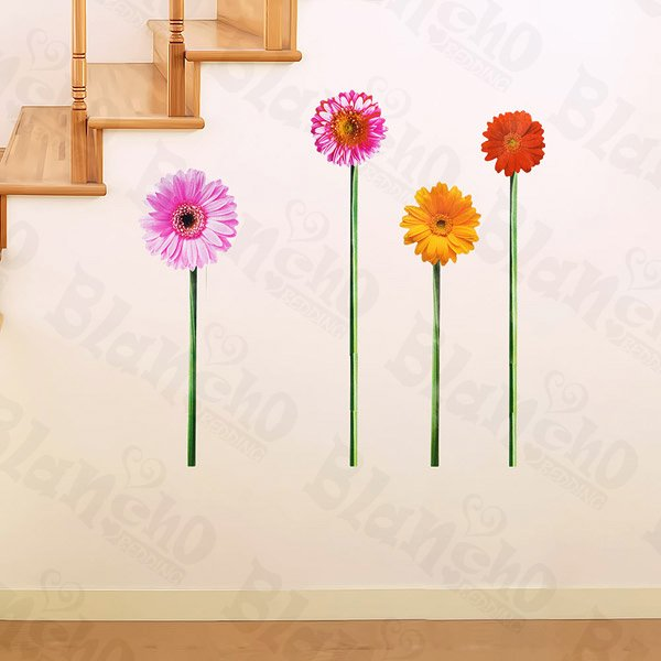 HEMU-HL-902 Colorful Sunflowers - Wall Decals Stickers Appliques Home Decor