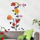 HEMU-HL-922 Rose Blossom - Wall Decals Stickers Appliques Home Decor