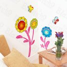 HEMU-HL-949 Cute Flowers - Wall Decals Stickers Appliques Home Decor
