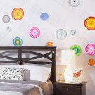 HEMU-HL-954 Colorful Circle 1 - Wall Decals Stickers Appliques Home Decor