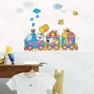 HEMU-LB-1647 Animal Train - Wall Decals Stickers Appliques Home Decor