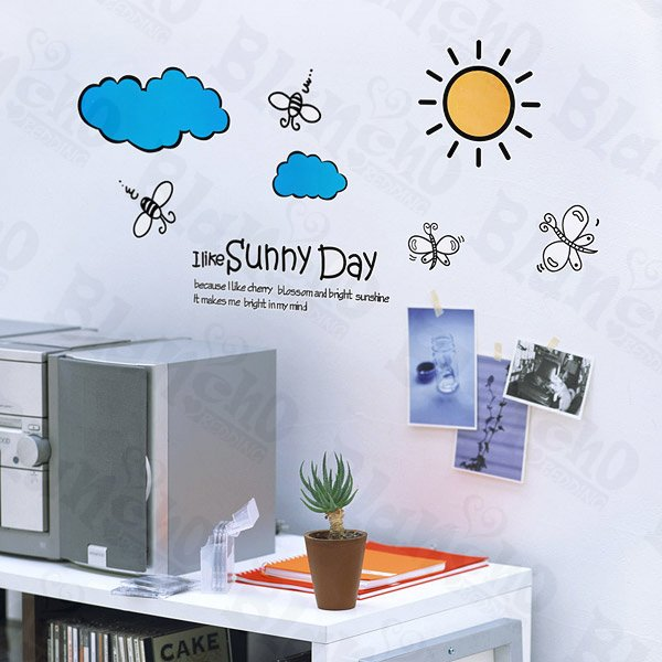 HEMU-LB-1822 Forever Sunny - Wall Decals Stickers Appliques Home Decor